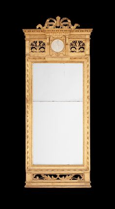 A Gustavian late 18th century mirror.