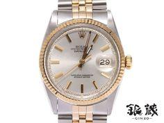 Rolex [銀蔵]中古ロレックスデイトジャスト1601アンティークSS YG 時計 Watch Antique ¥199800yen 〆05月16日