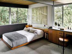 Richard Neutra Hailey Residence - mid-century house - bedroom