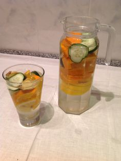 Detox water orange+Lemon+cucumber+ginger Laranja limão pepino e gengibre