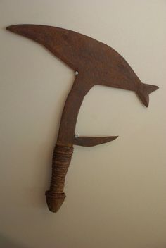 Authentic Throwing Knife of the Gabon Fang Tribe by ONGUNSPIRIT