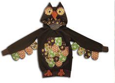 Детский костюм совы из толстовки