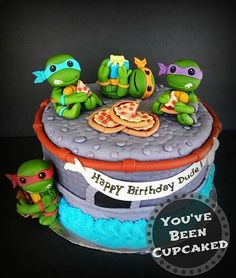 Cake Wrecks - Home - Sunday Sweets: Fraggles and Dragons and Groot, Oh My! The baby Ninja Turtles are my favorite <3