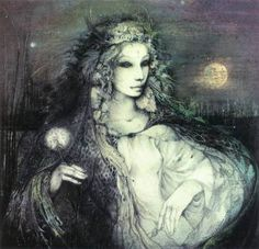 The Moon Goddess Rhiannon artist: Susan Seddon Boulet