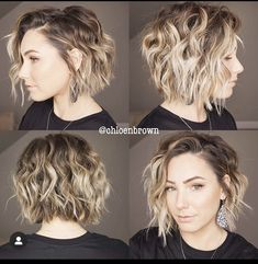 23 Layered Bob Haircuts We're Loving in 2020 Short Layered Haircuts, Short Hair Cuts, Wavy Curls Short Hair, Layered Bob Hairstyles, Cool Hairstyles, Weave Hairstyles, Ponytail Hairstyles, Curly Bob Haircuts, Wedding Hairstyles