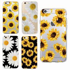 4943e26026a Flor Girasol Funda Estuche Cover Para iPhone 6 7 8 X Plus Samsung S7 S8 S9