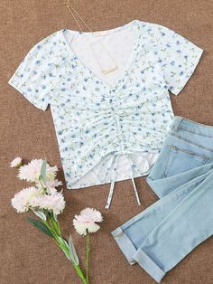 Clueless Outfits, Kpop Fashion Outfits, Girls Fashion Clothes, Girl Outfits, Women's Clothes, Cute Comfy Outfits, Cute Outfits For Kids, Pretty Outfits, Diy Summer Clothes