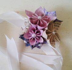 Paper Flower Wrist Tie Corsages Wedding Accessories Alternative Origami £15.00