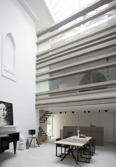 """""""A walk about Paris will provide lessons in history, beauty, and in the point of Life"""" - THOMAS JEFFERSON - (Stunning Design in Paris by Guillaume Terver and Christophe Delcourt Associates) Modern Interior, Interior And Exterior, Architecture Design, Loft Interiors, Beautiful Interiors, Interiores Design, Interior Design Inspiration, Interior Decorating, House Design"""