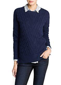 Pullover cashmere trecce