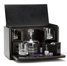I want this, even though I've put this in the gentleman's section.  Ralph Lauren Brabham Vice Box containing crystal barware, sleek coasters and a poker set