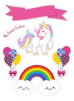 18 Ideas For Cupcakes Unicornio Dibujo Printable Stickers, Planner Stickers, Cake Templates, Unicorn Printables, Unicorn Cake Topper, Unicorn Birthday Parties, Birthday Cake Toppers, Little Pony, Hello Kitty