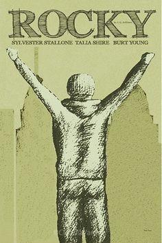 Rocky (1976) - Minimal Movie Poster by Claudia Varosio #minimalmovieposter #alternativemovieposter #70smovies #ClaudiaVarosio