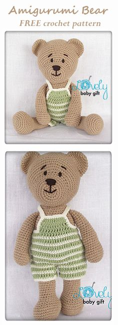 Teddy Bear FREE Amigurumi Pattern, Crochet Toy Tutorial by Lovely Baby Gift