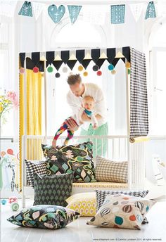 Great use of cot once finished with it - littlephant by Paul+Paula, via Flickr