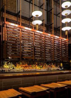 """""""The ground floor of Momotaro channels the spirit of a Tokyo office space of the 1950's and 60s."""""""