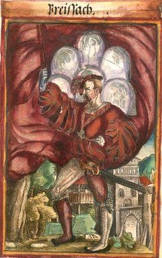 """Breisach [Breissach] (f°71?) -- Koebel, Jacob, """"Wapen des heyligen römischen Reichs teutscher Nation"""", Franckfurth am Main, 1545 [BSB Ms. Rar. 2155]"""