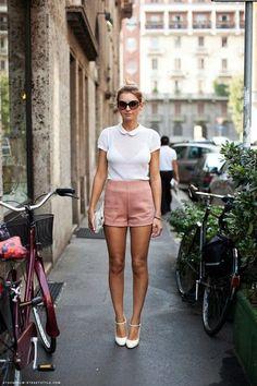 Looks con shorts altos de cintura