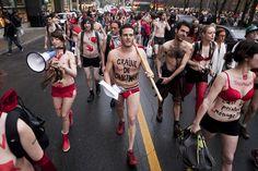 Manifestation ludique: En sous-vêtements pour un gouvernement transparent by Frederic Faddoul, via Flickr