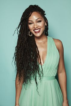 How You Can Install Super Long Goddess Faux Locs On Any Hair Type Meagan Good.luv, luv, luv her hair! can't wait to do my hair like this!luv, luv, luv her hair! can't wait to do my hair like this! My Hairstyle, Braided Hairstyles, Protective Hairstyles, Protective Styles, Hairstyles Haircuts, Natural Hair Care, Natural Hair Styles, Hair Colorful, Braids With Extensions