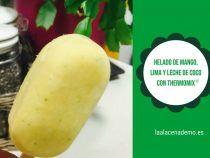 Helado de mango, lima y leche de coco con Thermomix Sorbets, Lima, Pineapple, Paleo, Fruit, Desserts, Recipes, Food, Mango Ice Cream