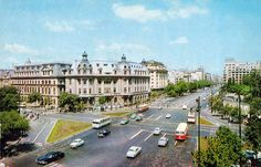 Blv. Nicolae Balcescu - 1967 Bucharest Romania, Old Pictures, Time Travel, Places To Visit, Traveling, Louvre, Memories, Building, Art