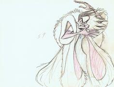 early concept art of Cruella de Vil by Marc Davis