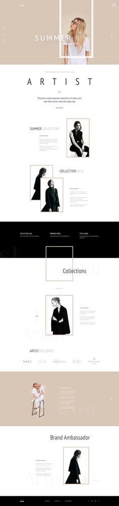 Artist - E-Commerce Template Concept : Page 1