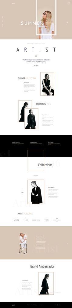 Artist - E-Commerce Template Concept : Page 1
