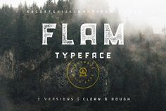 FLAM Typeface | Clean + Rough by Nicolas Fredrickson on @creativemarket