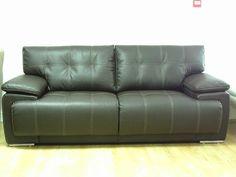 Dark Brown Leather Designer Infinity 3 Seater Sofa + Armchair (26) £699