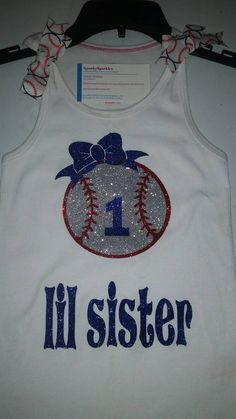 Check out this item in my Etsy shop https://www.etsy.com/listing/261736128/baseball-sister-tee-or-tank-sparkle