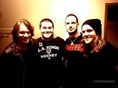 Wolf and his pops with a mark Tremonti