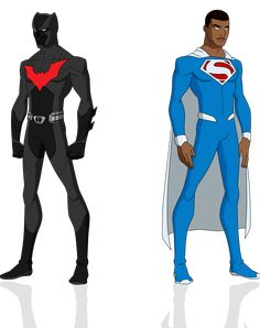 Justice Lord Superman & Justice Lord Batman Superman Red Son & Russian Batman Created with Phil Bourassa's work on Young Justice !