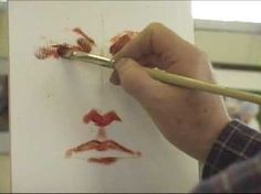 Interesting approach....Polarizing Oil Portrait Painting Demo by Jon Houglum Part 1
