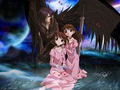 Dark, Risa, and Riku - DN Angel