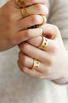 Spire Trends: Circle Line Ring-Geometry Collection-Handcrafted