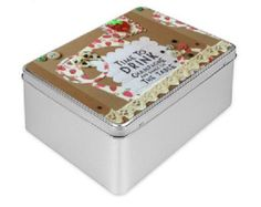 Gift Tin Box, strawberry and champagne gift, retro Tin box decorative Box, divorce gift, decorated box, gift box mother