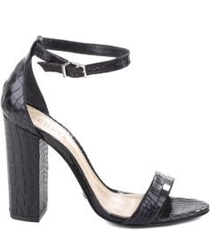 SANDÁLIA SINGLE STRIPE CROCO BLACK