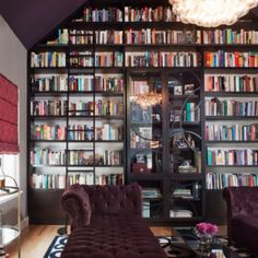 One wall in my future house is going to have floor to ceiling bookshelves and it will have a sliding ladder like in Beauty and the Beast...