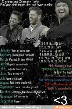 Rode in the impala with Gabriel because God commanded it. Yup.