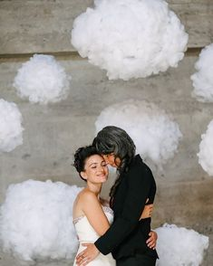 Gorg touch of soft clouds as a backdrop for this wedding booth! #rentmyphotobooth Nice photo via #apracticalwedding