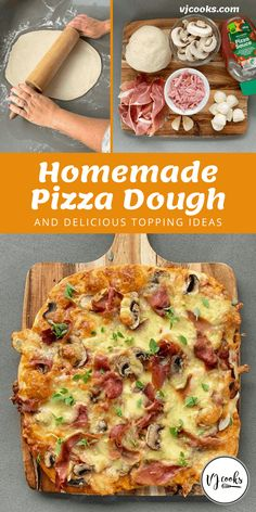 Homemade Pizza Dough Cooking Recipes, Healthy Recipes, Bread Recipes, Healthy Food, Pizza Recipes Homemade Dough, Seasons Pizza, Chicken Roti, Mexican Chicken And Rice, Honey Bbq