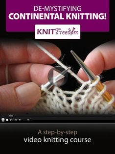 Continental Knitting Video Course-I love her knitting videos. She is a fantastic… Continental Knitting Video Course-I love her knitting videos. She is a fantastic teacher! Knitting Help, Knitting Videos, Knitting For Beginners, Lace Knitting, Knitting Stitches, Knitting Projects, Knit Crochet, Knitting Patterns, Crochet Patterns