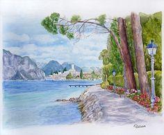 Gardasee (Aquarell)