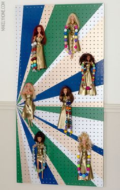 DIY Barbie jewelry holder for little girls via MakelyHome.com
