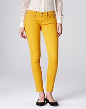 Fall 2012.  Yellow Lucky Brand Charlie Skinny Jeans. Thrifted