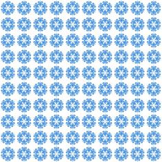 Snowflake Background Blue