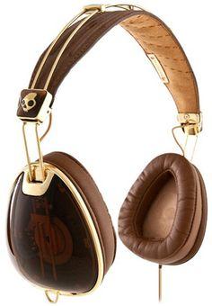 Skullcandy - Roc Nation X Skullcandy Aviator Headphones - Brown / Gold