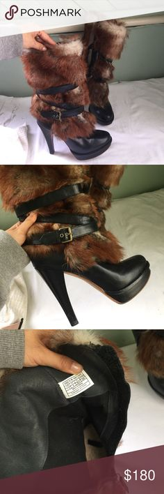 Authentic UGG fur boot heels 7.5 These are authentic UGG heels. Great with your favorite skinny jeans. They're made of genuine leather and sheepskin. Very comfortable soles- see pics! UGG Shoes Heeled Boots